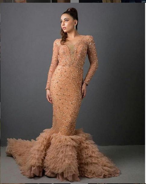 Ushna Shah look for Lux Awards 2019