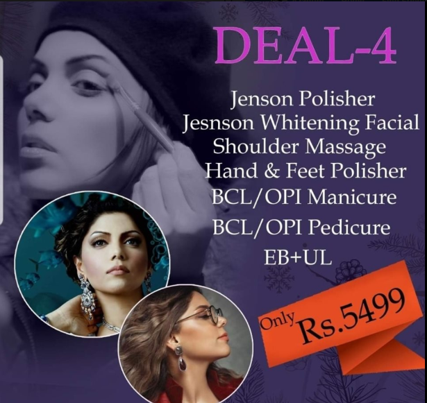 deal 4 from Hadiqa kiani salon facials Faisalabad