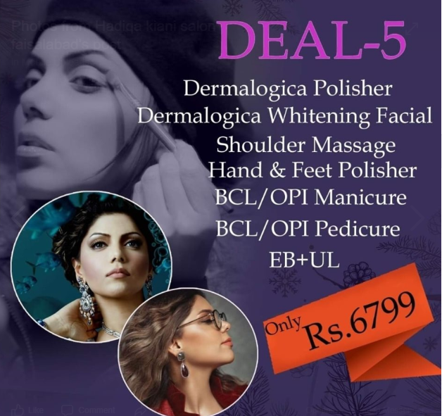 deal 5 hadiqa kiani salon facials