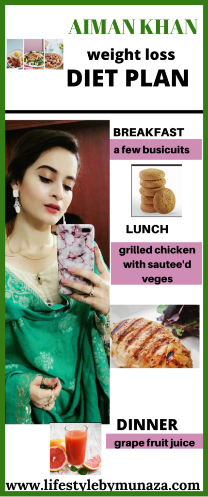 WEIGHT LOSS DIET PLAN OF AIMAN KHAN