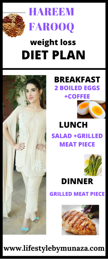weight loss diet plan of hareem farooq