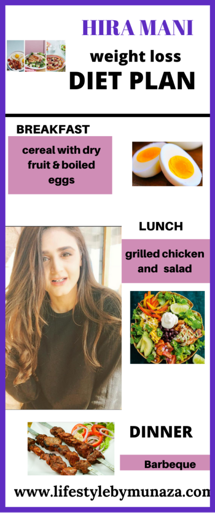 diet plan of hira mani for weight loss