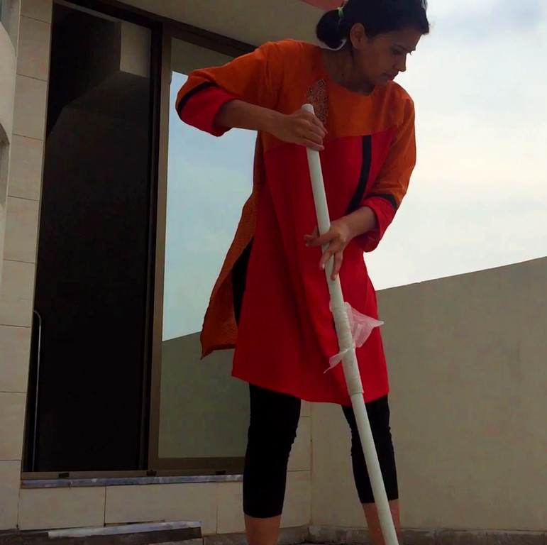 quarantine activities-cleaning your house-mopping the floors