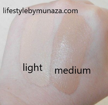 Swatches of Garnier bb cream