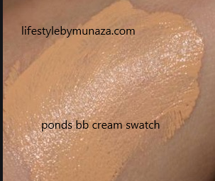 Swatches of Ponds bb cream