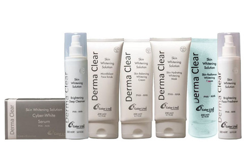Derma clear skin whitening solution instant whitening facial kit.  AFFORDABLE AND EFFECTIVE FACIAL KITS