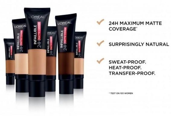 Loreal Paris Infallible 24H Matte Cover Foundation-BEST AND AFFORDABLE FOUNDATIONS