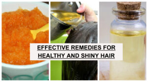 remedies for healthy and shiny hair