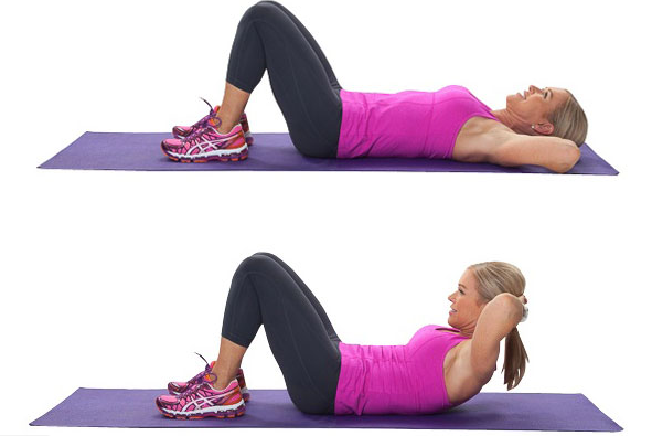 easy crunches to reduce lower belly fat